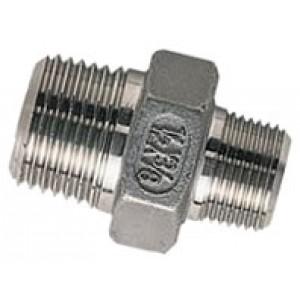 """Borstnippel R1/2"""" - R3/8"""", RVS AISI 316L, 16 bar"""