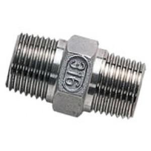 """Borstnippel R1.1/4"""" - R1.1/4"""", RVS AISI 316L, 16 bar"""